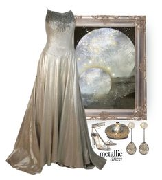"""""""Heavy Metal: Metallic Dresses"""" by easy-dressing ❤ liked on Polyvore featuring Helen Rose, Larkspur & Hawk, Judith Leiber, Jimmy Choo, WhatToWear, polyvoreeditorial, polyvorecontest and metallicdress"""