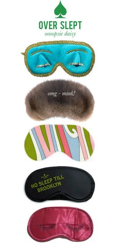 cute eye mask stocking stuffers! especially the blue one (breakfast at tiffany's)
