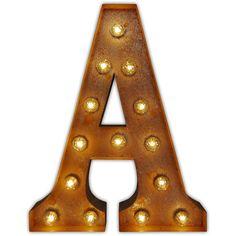 Vintage Letter Light Alphabet Light - A found on Polyvore