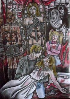 "Saatchi Art Artist Celeste Gómez; Drawing, ""EL PURGATORIO DE MICHAEL."" #art"