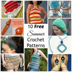 10 Free Summer Crochet Patterns