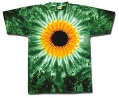 A cool sunflower tie dye design t shirt