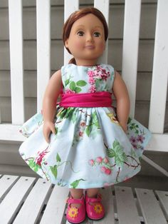 American girl doll dress AG doll dress american by Clothes4Girls
