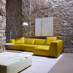Bend sofa, Patricia Urquiola, B&B Italia. Urquiola created a number of different Bend sofa modular elements that provide seemingly endless configurations...
