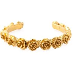Leivankash Rose Love Cuff (890 AUD) ❤ liked on Polyvore featuring jewelry, bracelets, accessories, bangles, hair accessories, metallic, gold plated jewelry, gold plated cuff bracelet, bracelet jewelry and bangle bracelet