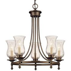Grace Rubbed Bronze 5 Light Chandelier 14689 At The Home Depot $125