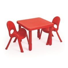 Angeles MyValue Set 2 Kids Square Writing Table Set & Reviews | Wayfair- 20X24X24 Table