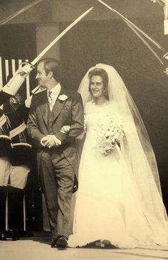 Andrew Parker Bowles weds Camilla Shand (1973)