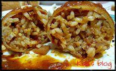 "Kalli's blog: ""Θράψαλα γεμιστά με σάλτσα ούζου"" Baked Potato, Tacos, Potatoes, Mexican, Baking, Ethnic Recipes, Blog, Potato, Bakken"