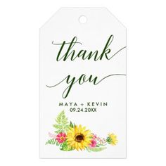 Elegant watercolor floral geometric gift tags wedding ideas diy summer sunflower thank you favor gift tags summer wedding diy marriage customize personalize couple idea solutioingenieria Images