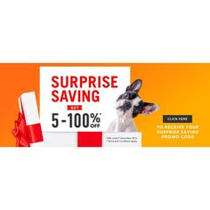 Bargain - 5-100% Off - Surprise Saving @ Petpost