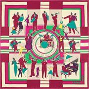 La Maison des Carrés Hermès | Carré 70 x 70 cm Original Trocadéro Jazz Band rosa