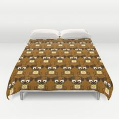 Cute+Brown+Puppy+Dog+Duvet+Cover+by+BoxEdsPaperCrafts+-+$99.00