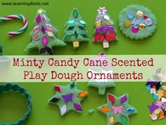 Minty Candy Cane Scented playdough