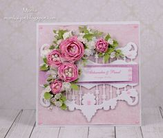 Card: Peony wedding card