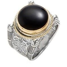 Men s Konstantino  Minos  Etched Black Onyx Ring Joias Masculinas, Anel  Masculino, Correntes a1c6cb7be3