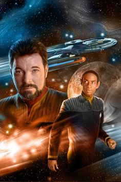 Posted by SF Series and Movies  Star Trek poster (Riker and Tuvok)