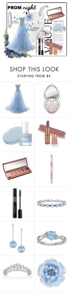 """""""Prom night"""" by yulia8us ❤ liked on Polyvore featuring Too Faced Cosmetics, Urban Decay, Christian Dior, Miadora, Swarovski, Bling Jewelry, Monsoon and Chloe Gosselin"""