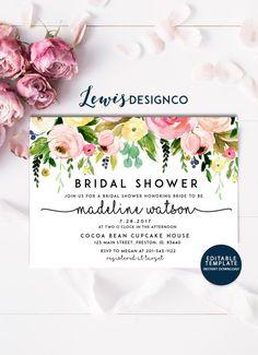 Vintage Rose Rustic Invite Recipe for Bridal Bliss Theme Digital Files Antique Lace Ladies Brunch Bridal Shower Tea Party Invitation