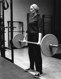 Fitspiration worthy!!!  This lady is 74 years old and still lifting weights. I plan on being just as active in my old age: Vanessa Redgrave at 74, by Bruce Weber for Italian Vogue
