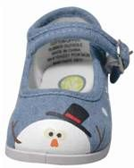 LTD ED - Shivers the Snowman mary janes toddler shoes by Monkey Toes - $39