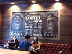 Vintage-style typography mural for Starbucks | Typography | Creative Bloq