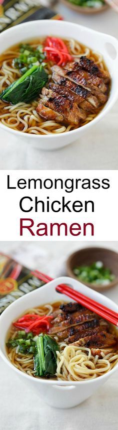 Lemongrass Chicken Soy Sauce Ramen - delicious ramen with amazing toppings. Homemade ramen never tasted so good with Nissin RAOH ramen | rasamalaysia.com