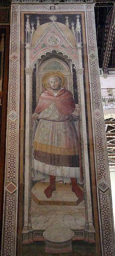 Agnolo Gaddi - San Giuliano? - affresco - 1385 - Cappella Castellani - Basilica di Santa Croce a Firenze.