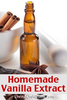 Homemade Vanilla Extract Recipe - Christmas Gift Idea