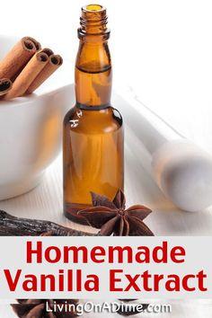 Homemade Vanilla Extract Recipe - Christmas Gift Idea