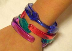 Toothbrush bracelets. My Princess and I made these when she was in middle school. As I recall, they were quite easy to make.