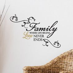 """Family: Where life begins, love never ends."" wall sticker #MothersDay #Kohls"