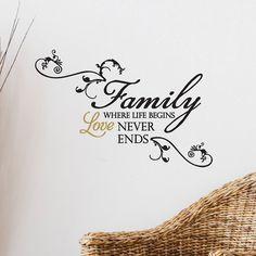 """Family: Where life begins, love never ends."" wall sticker #MothersDay #Kohls"