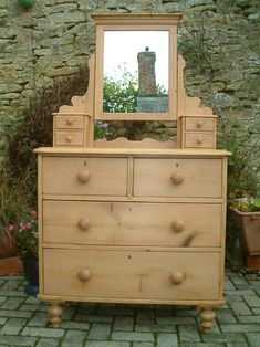 A Restored Victorian Antique Pine Dressing Chest - Antiques Atlas Furniture Restoration, Pine Furniture, Dressing, Home Decor, Small Furniture, Drawer Runners, Restoration, Vintage Furniture, Victorian