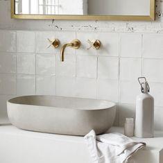 Lavabo béton à poser pour salles de bain