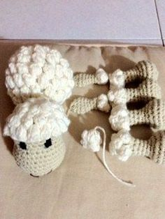 Patrones amigurumi, crochet, punto, manualidades - Creative and Craft Crochet Sheep, Diy Crochet And Knitting, Crochet Patterns Amigurumi, Love Crochet, Crochet Animals, Crochet Toys, Crochet Stitches, Crochet Baby, Bobble Stitch