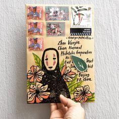 😶 Spirited away … on Monday . Bullet Journal Art, Bullet Journal Inspiration, Letter Writing, Letter Art, More Love Letters, Mail Art Envelopes, Snail Mail Pen Pals, Pen Pal Letters, Envelope Art