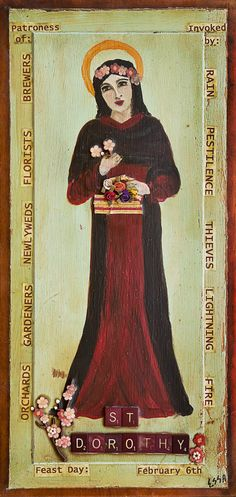 Patroness of Brewers, Florists, Newlyweds, Gardeners, Orchards