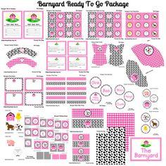 Pink barnyard printables