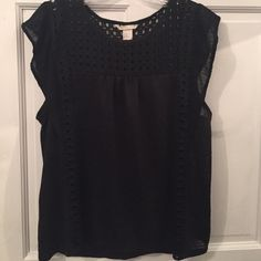 black blouse black shirt sleeve blouse from h&m never worn H&M Tops Blouses