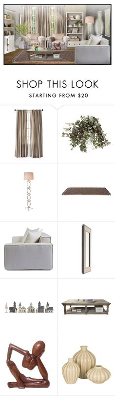 """Sin título #522"" by yblacasa on Polyvore featuring interior, interiors, interior design, hogar, home decor, interior decorating, Cuero, Threshold, Kettal y Mitchell Gold + Bob Williams"