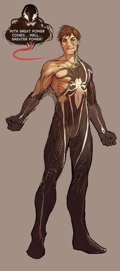 Looks like it's true, Peter Parker goes commando.