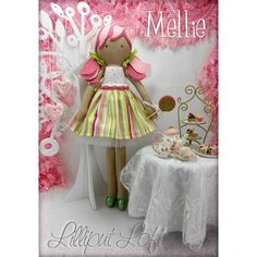 $95.00 Mellie Pretty Poppet Doll by LilliputLoft on Handmade Australia