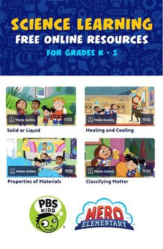 Follow Hero Elementary for a ton of fun and educational free SCIENCE activities, games and resources! 💥🔬🧲 Learn along with Sparks' Crew and help teach your children to use their Superpowers of Science! Watch on PBS KIDS (check your local listings for times), PBSKIDS.org or anytime on the PBS KIDS video app. Science Videos, Science Fair, Science Lessons, Science Games For Kids, Science Activities, Science Classroom, Teaching Science, Learn Science, Learning Resources