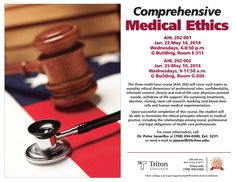 Check out Media Ethics, a brand new Allied Health course for the spring 2014 semester!  Click the image for more information!