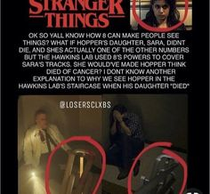 This is so crazy and clever 😂 I don't think it's true tough 😅 Stranger Things Theories, Stranger Things Have Happened, Stranger Things Quote, Stranger Things Netflix, Johnlock, Stranger Danger, Don T Lie, Fandoms, Lol