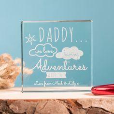 Personalised Glass Token - Daddy Adventures   GettingPersonal.co.uk