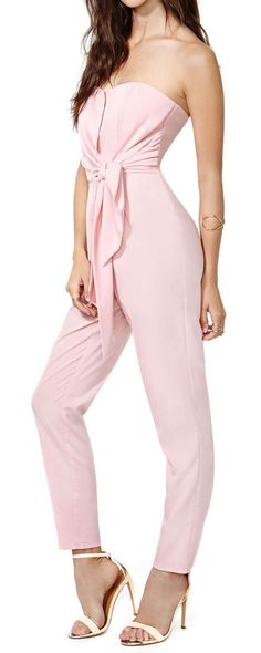 Pretty in Pink Jumpsuit //
