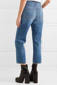 J Brand - Ivy Cropped High-rise Straight-leg Jeans - Mid denim -