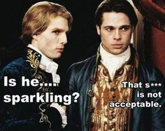 The Vampires Lestat and Louis, I love them, my favorite Vampires especially LOUIS....yum yum..